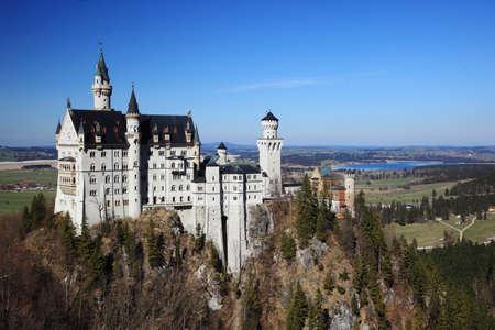 View of Neuschwanstein castle in Bavarian