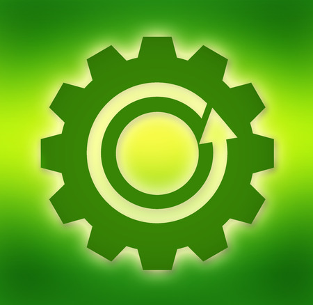 environment friendly: Symbol of environment friendly industrial production