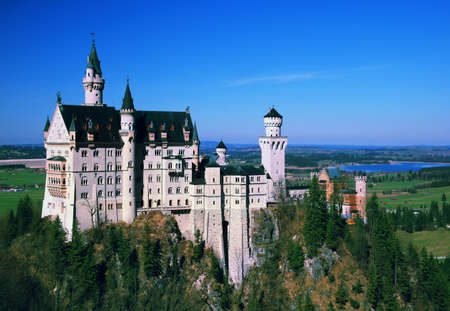 View of Neuschwanstein castle in Bavarian