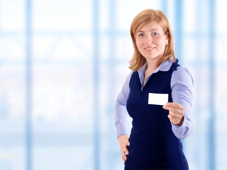 show business: Beauty elegant woman show business card