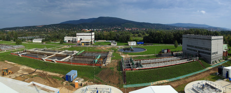 Complex sewage works from above