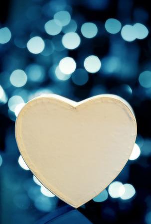 vibrant background: Heart shape box against vibrant background
