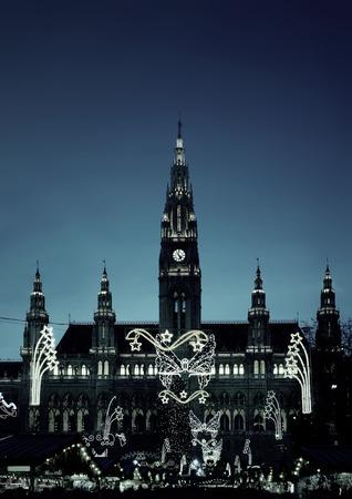 Vienna39s City Hall at Christmas Advent photo