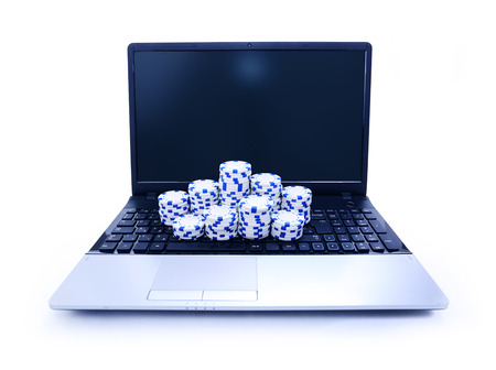 tokens: Tokens on keyboard of notebook symbol as online casino