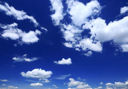 cloudscape: Cloudscape, blue sky white clouds