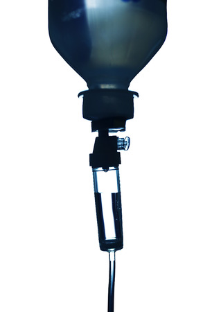 infusion: Infusion bottle with dropper silhouette