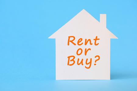 Rent or buy Foto de archivo