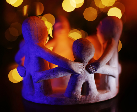 affinity: Clay sculpture symbol of family