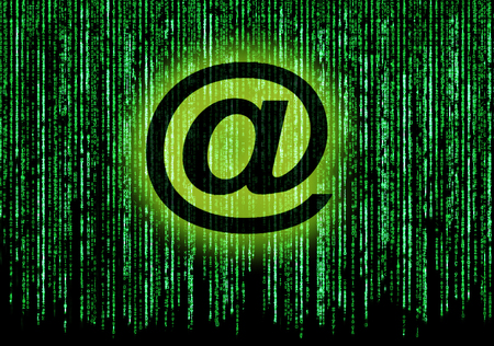 Matrix background with email symbol