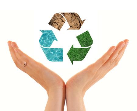 circulate: Recycling Stock Photo