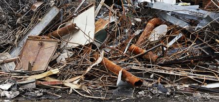 corrode: Detail heap of waste corrode iron