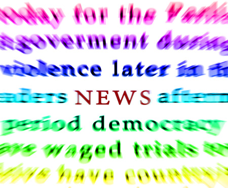 Newspaper isolated words news focus