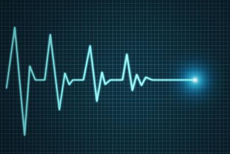 heart beat: Heart Beat line End of Life