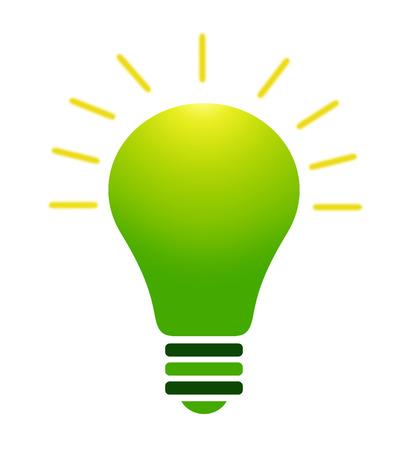 green bulb: Illustration of green bulb on white background Stock Photo