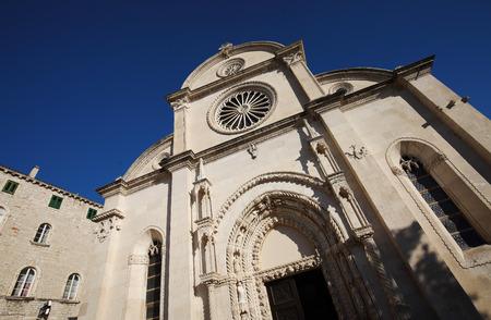 Detail of The Cathedral of St. James in Sibenik, Croatia Stock fotó