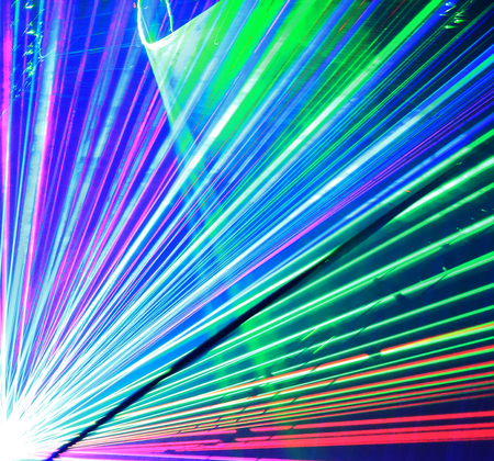 Colorful laser lights, abstract image
