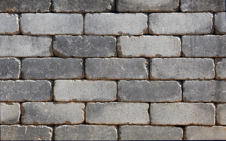 Regular stone wall made of conrete Imagens