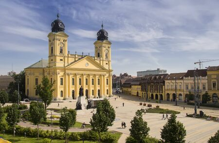 Main square of Debrecen city, Hungary