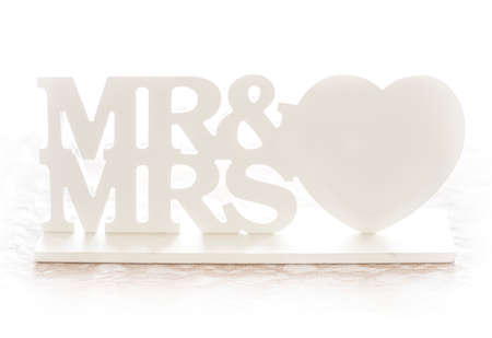 Mr & Mrs wedding decoration