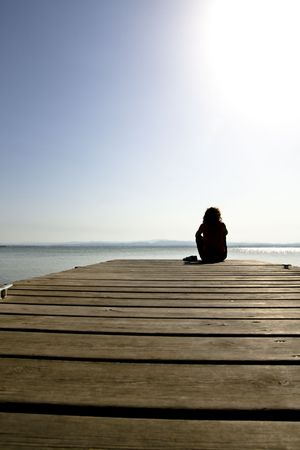 lonelyness: A girl looking far away