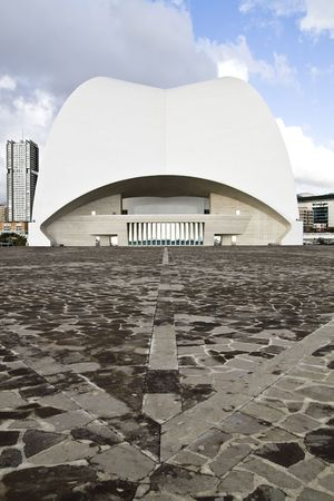 odd: Perspective of an odd building located in Tenerife, Canary islands, Spain.