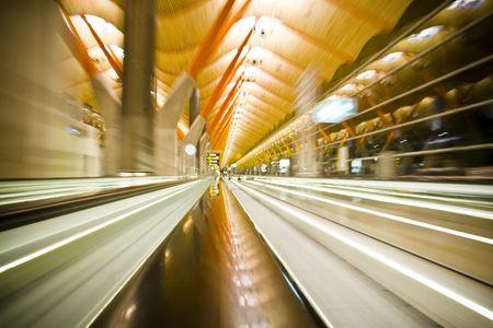 lightbeam: airport terminal Stock Photo