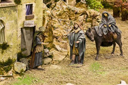 virgen maria: Joseph, en busca de la cobertura de la Virgen Mar�a, embarazada de Jes�s Cristo.