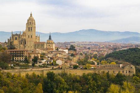 Segovia cityscape from the alcazar building. Stock Photo - 2367065