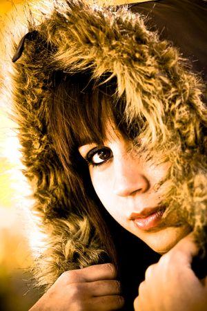 Woman portrait in winter fashion. photo