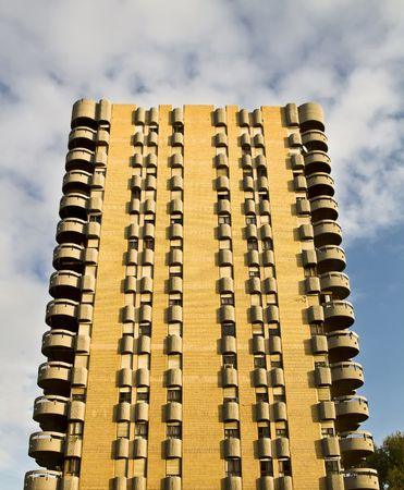Building facade full of mid-class apartments Stock Photo - 2451430