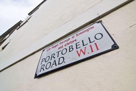 Portobello road sign at London, England. Stock Photo - 3050183