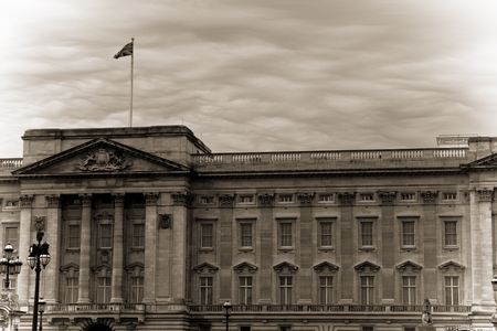 Buckingham Palace in early 20th century photo style photo