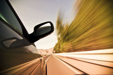Abstract blurred action from car at high speed Stock Photo - 3235573
