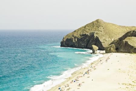 One of the virgin beaches in Cabo de Gata National Park, Spain.