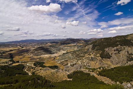paisaje mediterraneo: Paisaje mediterr�neo en la provincia de Granada, Espa�a.  Foto de archivo