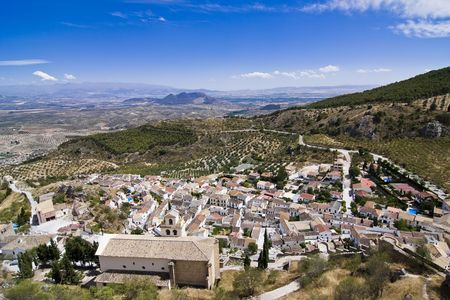 Small village isolated in the Spanish countryside. Stock Photo - 3431664