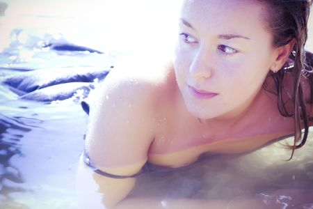 Sensual young blonde in the water. Stock Photo - 3676648