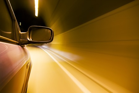 Driving at high speed inside tunnel Stock Photo - 3992991