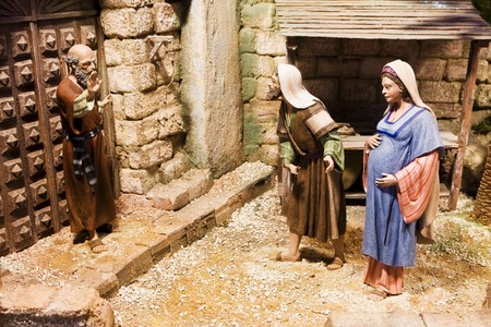 bethlehem crib: Joseph and pregnant Mary been rejected