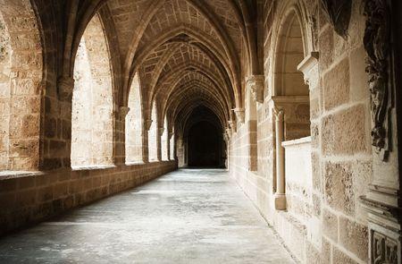 zaragoza: Interior view of the Monasterio de Piedra, in Zaragoza province.