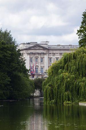 Buckingham palace from st James park photo
