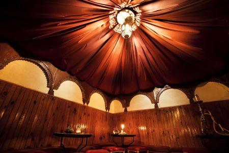 homelike: The inside of an elegant arab cafe