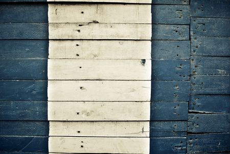 Highly detailed blue and white wooden background Stock Photo - 6038541