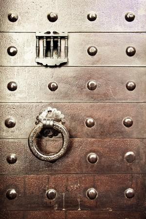 Old arabic styled iron door. photo
