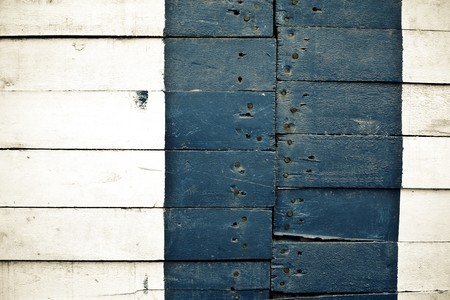 Highly detailed blue and white wooden background Stock Photo - 6987740