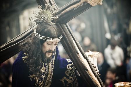 christendom: Christ figurine on the streets in catholic easter celebration.