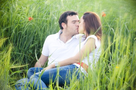 Young casual couple feeling each other Stock Photo - 7512873