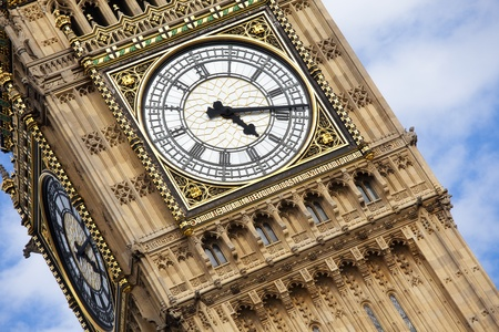 London Big Ben over blue sky as background. Stock Photo - 8765013