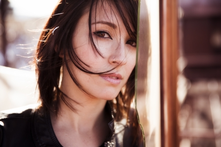 Young beautiful woman staring at camera. Stock Photo - 17825310