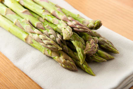 clave: Asparagus over napkin Stock Photo